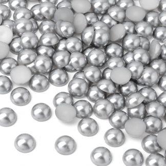 Półperełki okrągłe 10 mm (srebrny) - 2000 szt.