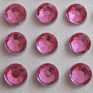 Cyrkonie okrągłe 2 mm (różowy) - 176 szt.