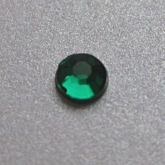 Cyrkonie okrągłe 2 mm (zielony) - 176 szt.