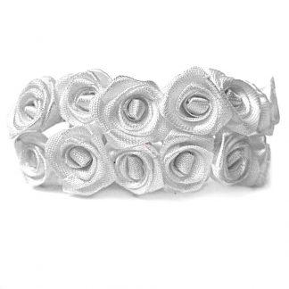 Róże satynowe (białe) - 36 szt.