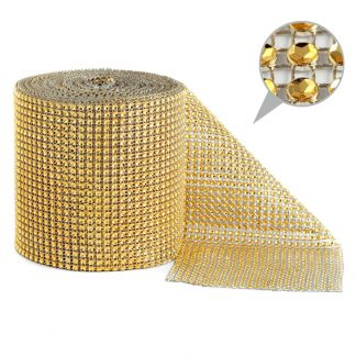 Taśma dekoracyjna 12 cm x 9m (złota) - 1 szt.