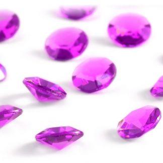 Diamentowe konfetti 12 mm (różowe ciemne) - 100 szt.
