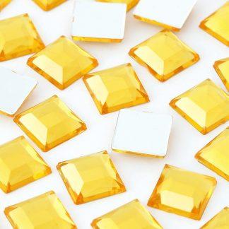 Cyrkonie kwadratowe 4 x 4 mm (złote) - 176 szt.