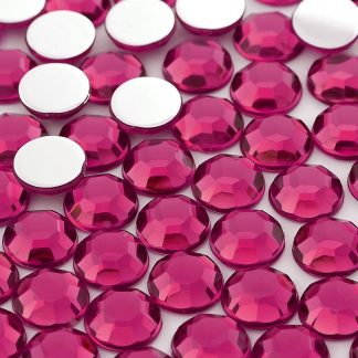 Dżet okrągły 14 mm (różowy ciemny) - 500 szt.