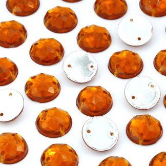 Dżet okrągły z dziurkami 10 mm (bursztynowy) - 2000 szt.