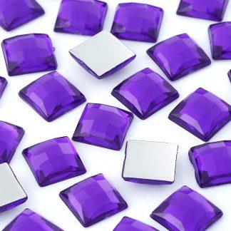 Dżety kwadratowe 10 x 10 mm (fioletowy) - 1000 szt.