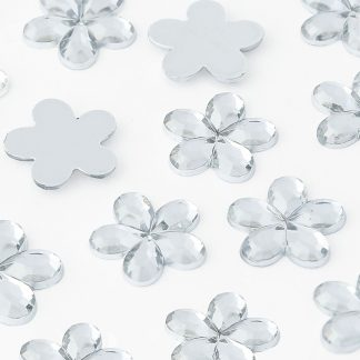 Dżety kwiatki 10 mm (kryształowy) - 1000 szt.