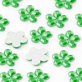 Dżety kwiatki 10 mm (zielony) - 1000 szt.