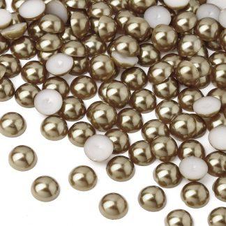Półperełki okrągłe 2 mm (brązowy) - 10000 szt.
