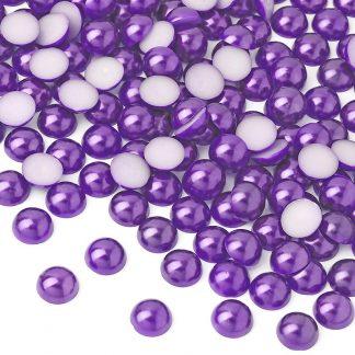 Półperełki okrągłe 10 mm (fioletowy) - 2000 szt.