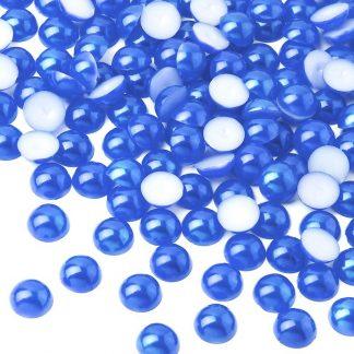Półperełki okrągłe 10 mm (niebieski) - 2000 szt.