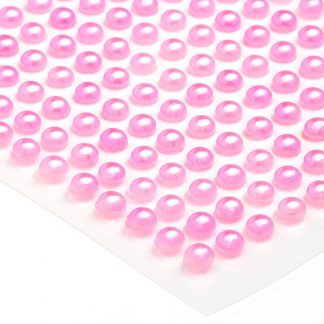 Półperełki okrągłe 3 mm (różowy) - 176 szt.