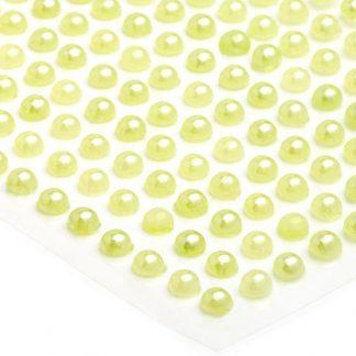 Półperełki okrągłe 4 mm (zielony jasny) - 176 szt.