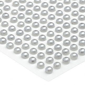 Półperełki okrągłe 5 mm (srebrny) - 100 szt.