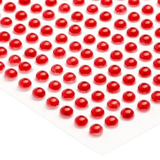 Półperełki okrągłe 2 mm (czerwony) - 176 szt.
