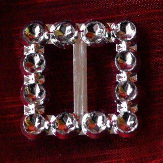 50 szt. Klamra ozdobna (srebrna) BUC2.12