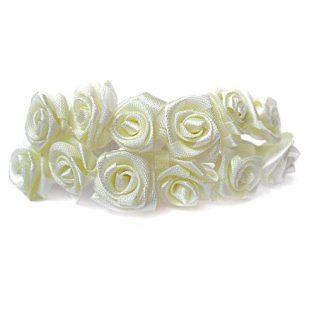 Róże satynowe (ecru) - 36 szt.