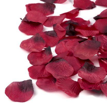 Płatki róż (bordowe) - 100 szt.