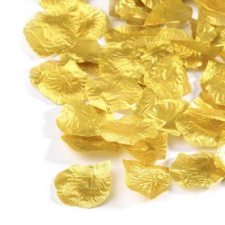 Płatki róż (złote) - 100 szt.