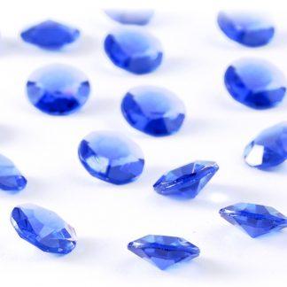 Diamentowe konfetti 12 mm (niebieskie) - 100 szt.