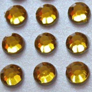 Cyrkonie okrągłe 4 mm (złoty) - 176 szt.