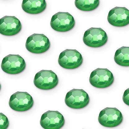 Cyrkonie okrągłe 3 mm (zielony) - 176 szt.
