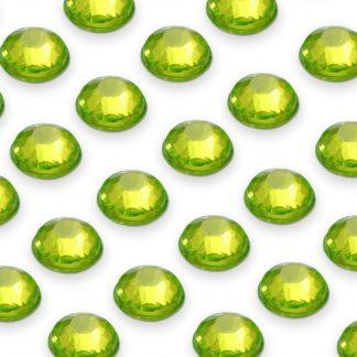 Cyrkonie okrągłe 4 mm (zielony) - 176 szt.