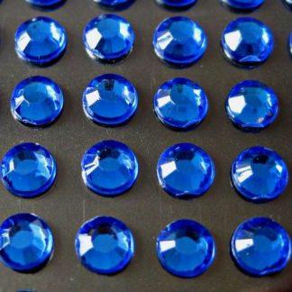 Cyrkonie okrągłe 4 mm (niebieski) - 176 szt.