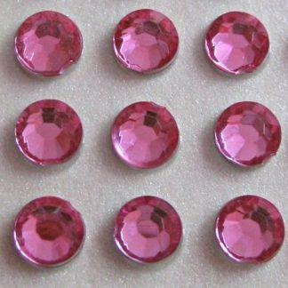 Cyrkonie okrągłe 5 mm (różowy) - 100 szt.