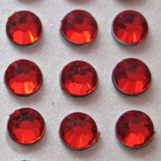 Cyrkonie okrągłe 2 mm (czerwony) - 176 szt.