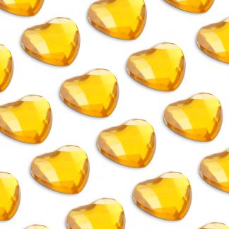Cyrkonie serca 6 mm (złoty) - 100 szt.